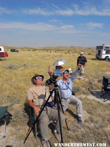 Stew, Syncro Bill and Cougar Couple view WY eclipse