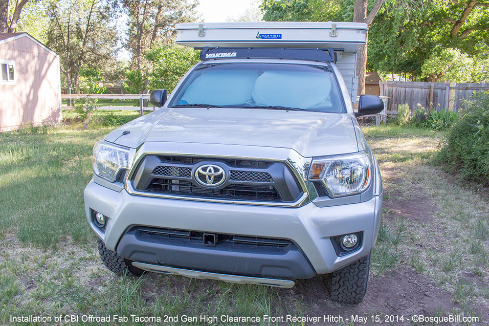 Installation of a front receiver hitch on 2nd Gen Tacoma