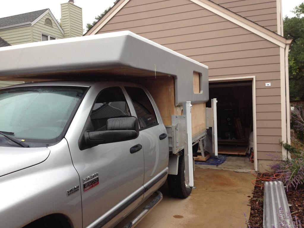 Pod Homebuilt Foam Core Fiberglass Skin Pop Up Camper